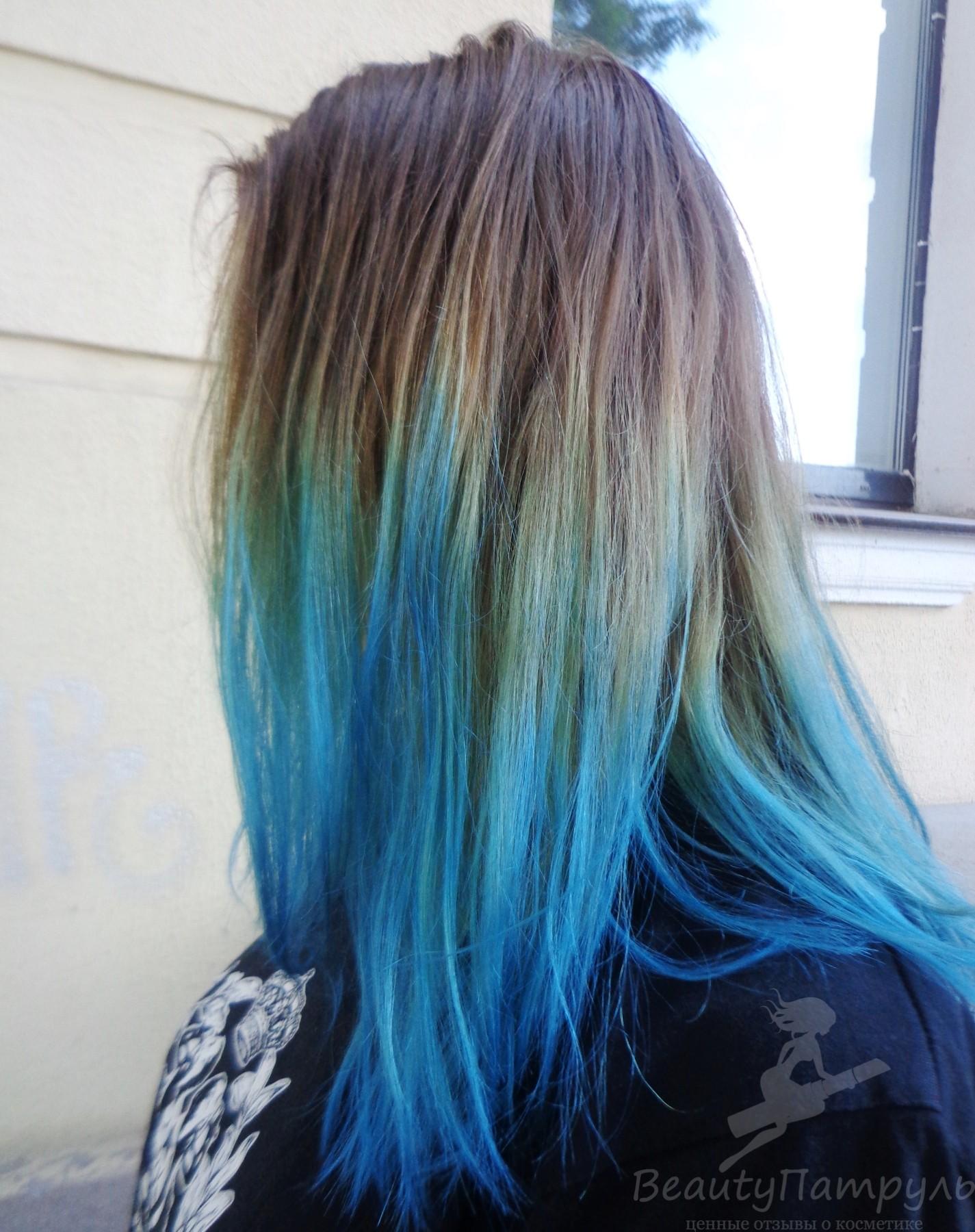 Краска синего цвета эстель